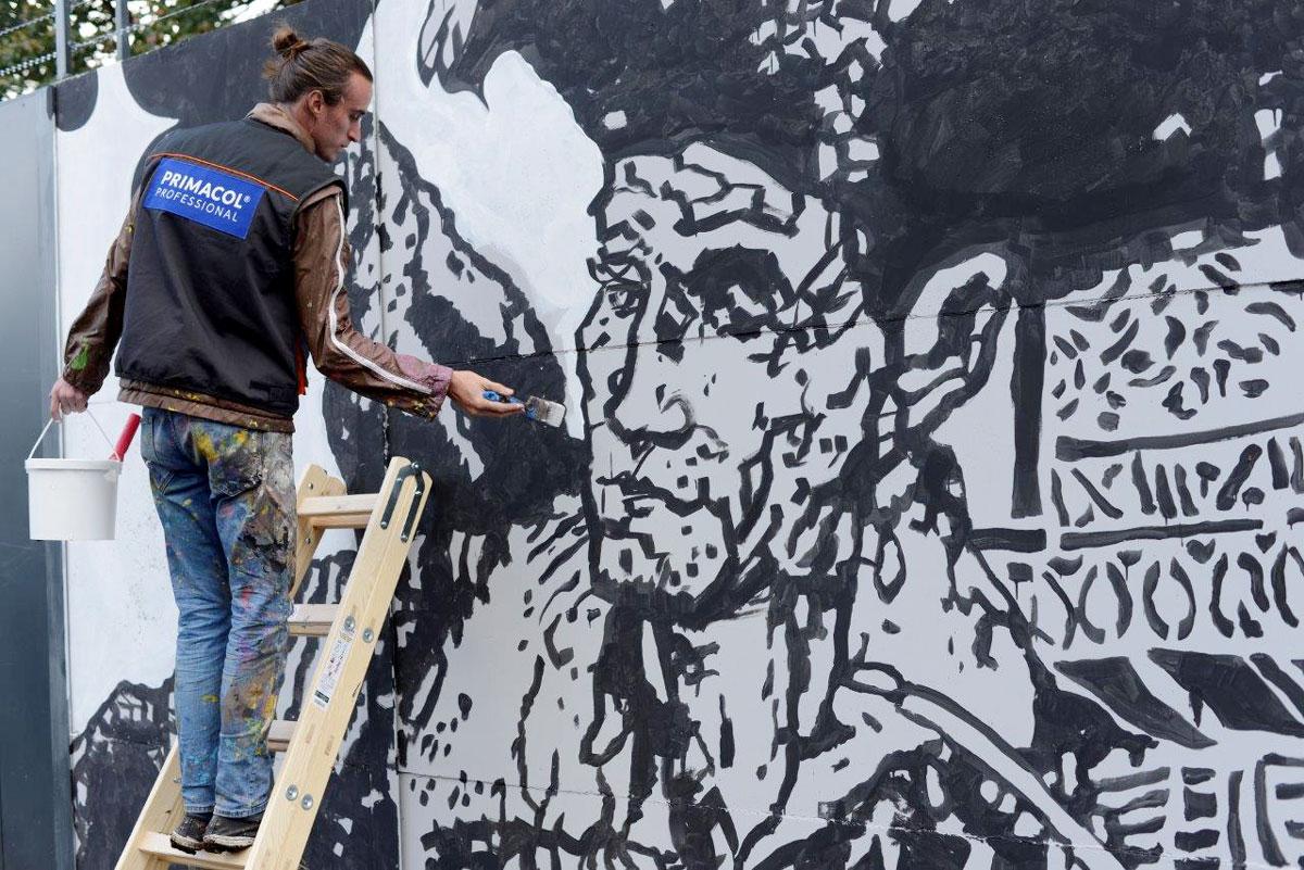 Najwi kszy mural historyczny w europie z farb marki for Mural legionowo