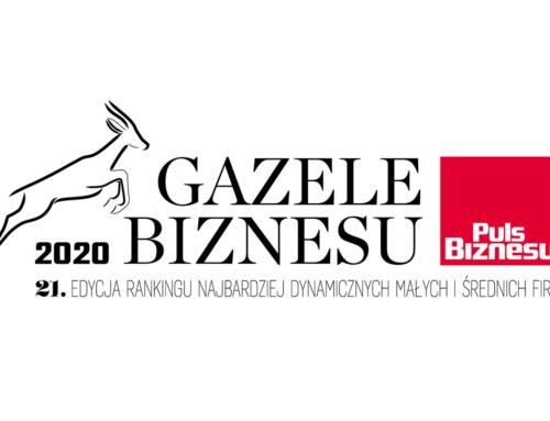 """Unicell Poland z tytułem """"Gazele Biznesu 2020"""""""